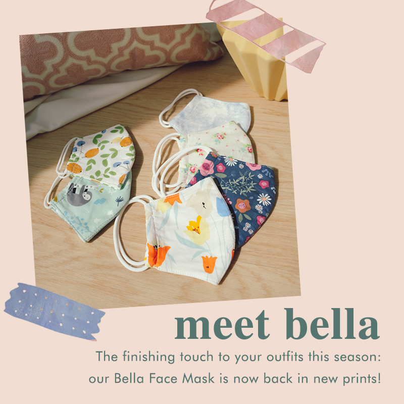 Bella Face Mask Home banner