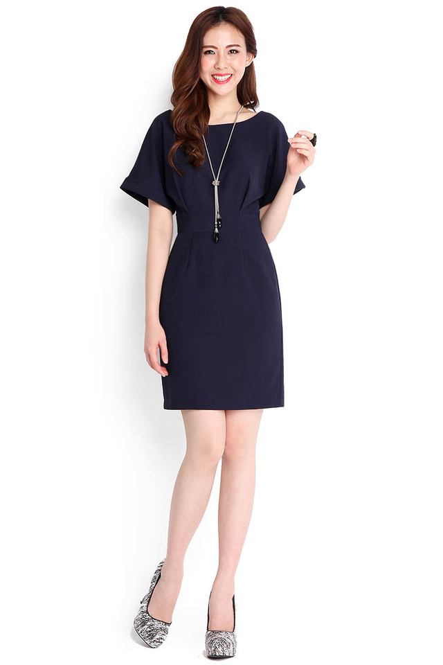 Hopeless Romantic Dress In Midnight Blue