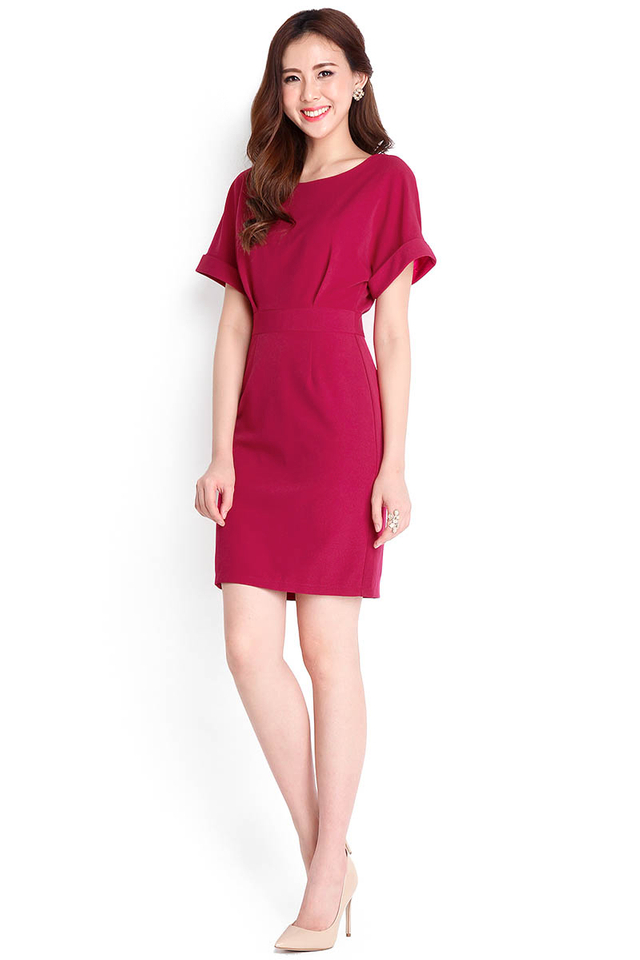 Hopeless Romantic Dress In Magenta