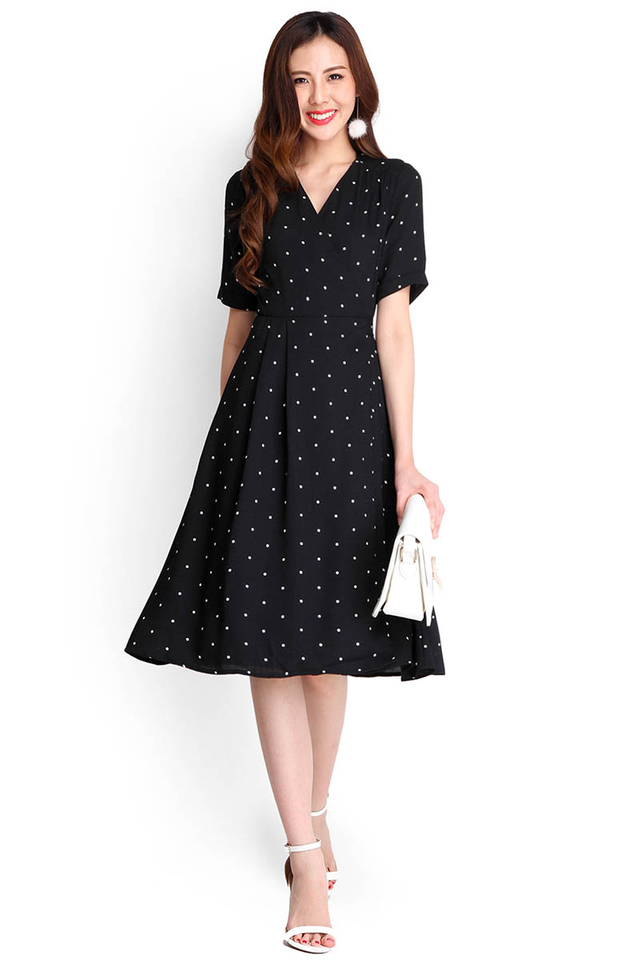 City Adventure Dress In Polka Dots