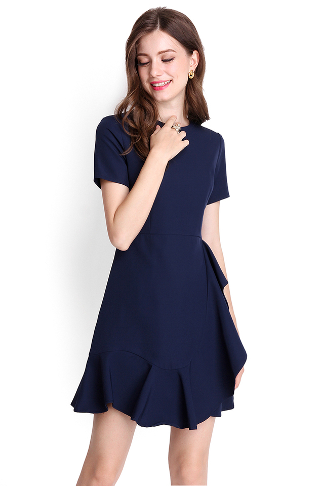 Sonnet Of The Forest Dress In Midnight Blue