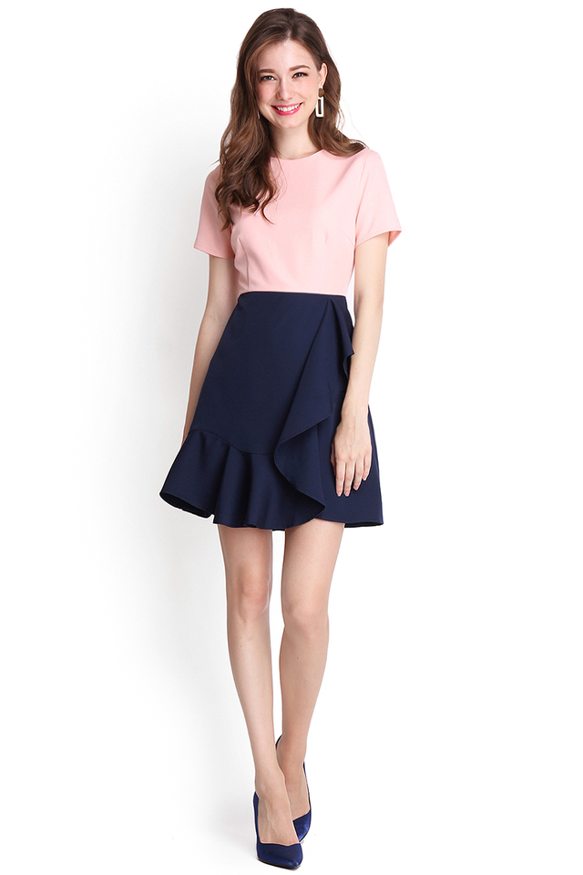 Sonnet Of The Forest Dress In Pink Blue