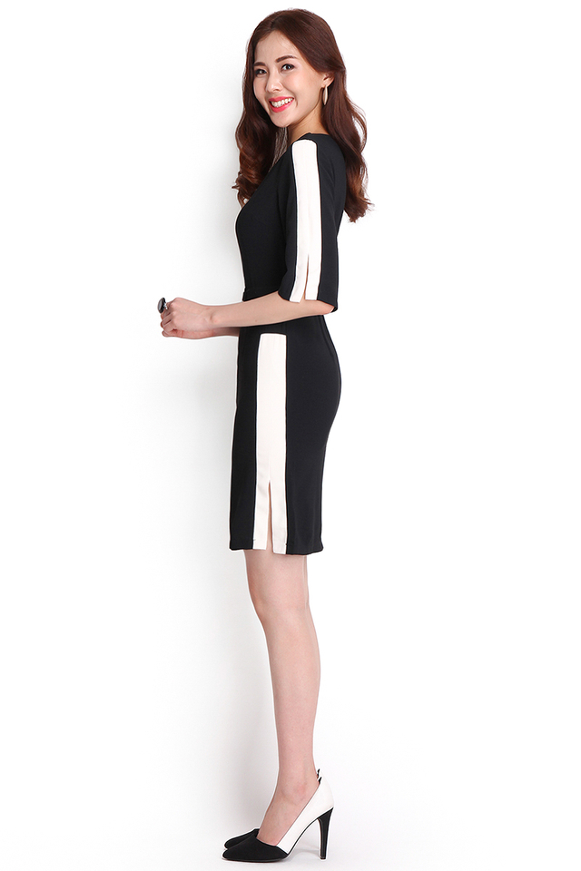 The Right Stripe Dress In Classic Black