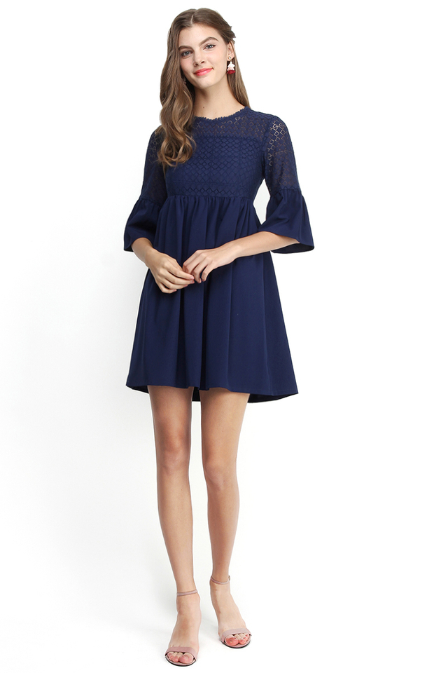 Windsor Castle Dress in Navy Blue