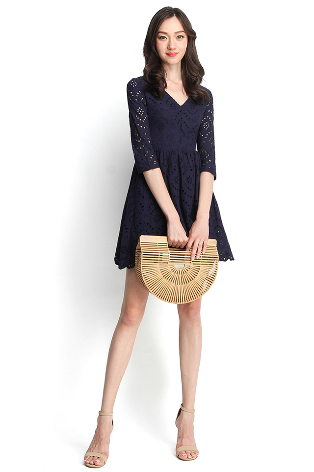 Summer Holiday Dress in Navy Blue