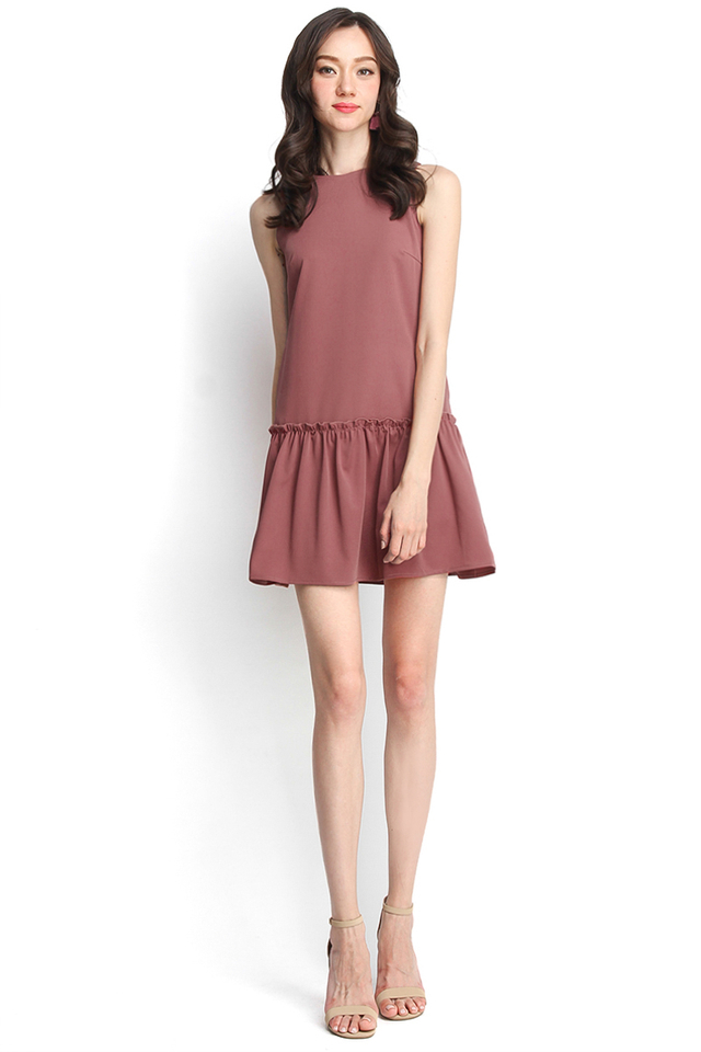 Keep Looking For Sunshine Dress In Tea Rose