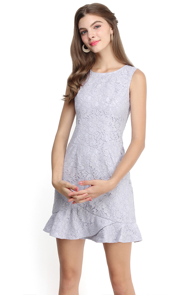 Enchanted Evening Dress In Soft Lilac