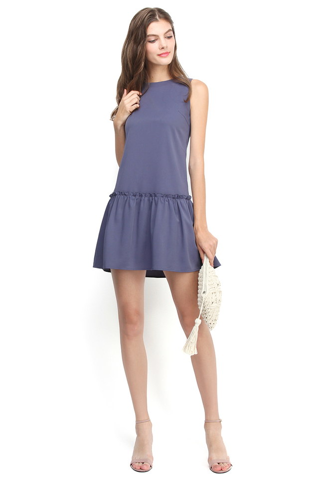 Keep Looking For Sunshine Dress In Periwinkle