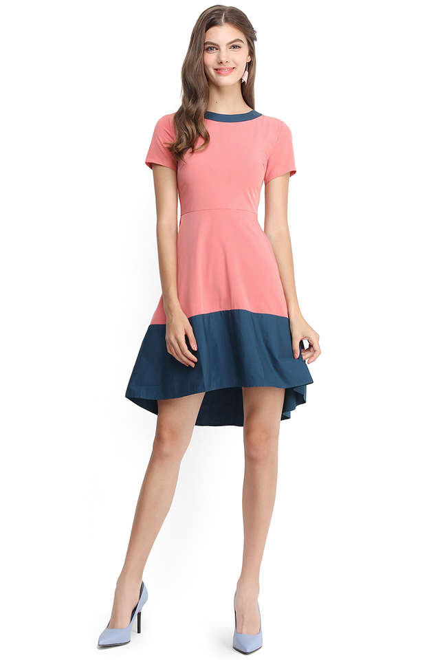 Modern Icon Dress In Bubblegum Pink