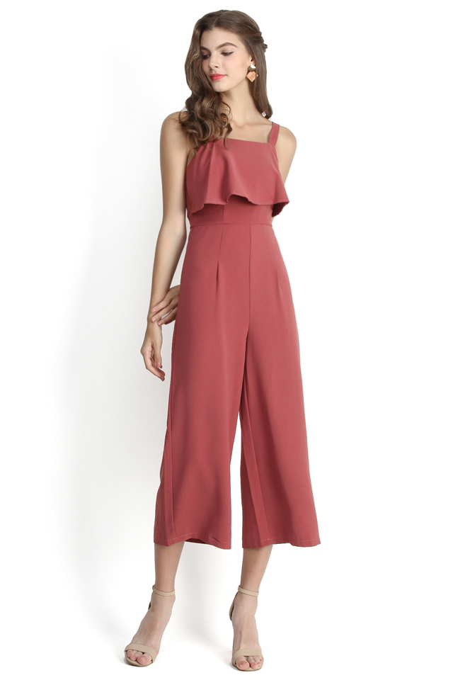 City Sassiness Romper In Rose Pink