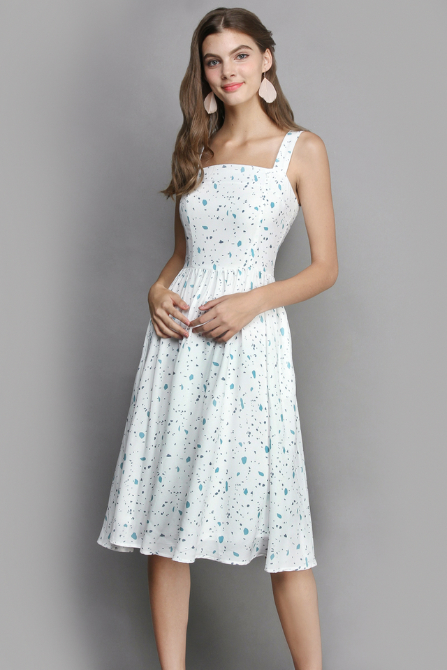 Picasso Muse Dress In Fresh White