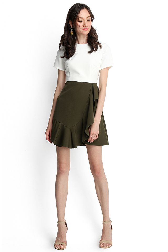 Sonnet Of The Forest Dress In Ivory Olive