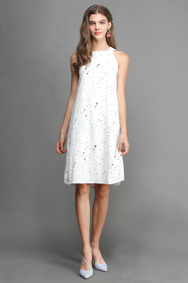 Stars In Your Eyes Dress In White Confetti