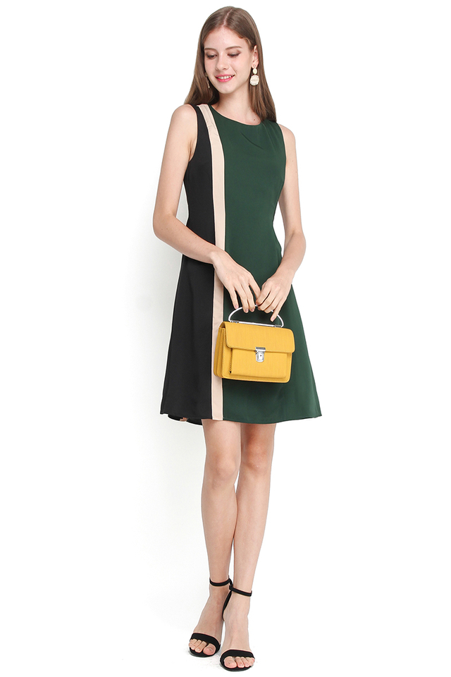Wonders Of The World Dress In Forest Green