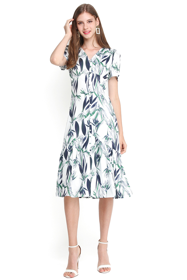 Miami Beach Party Dress In Tropical Prints
