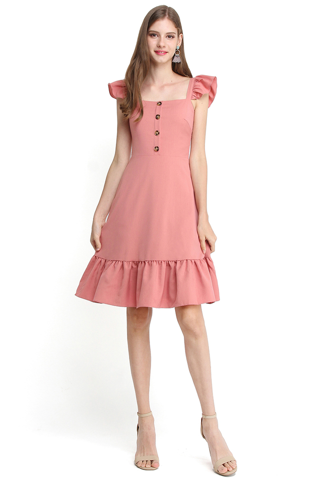 Weekends Are Made For Fun Dress In Tea Rose