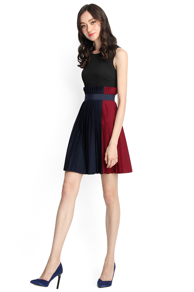 City Of Dreams Dress In Wine Red