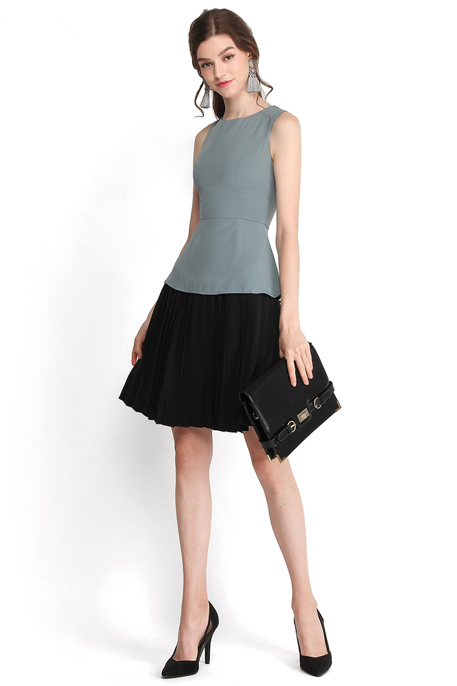 In Time With You Dress In Blue Black