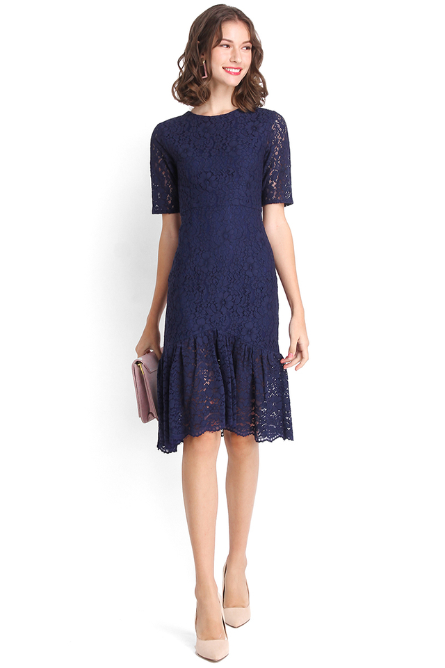 St Helens Dress In Midnight Blue