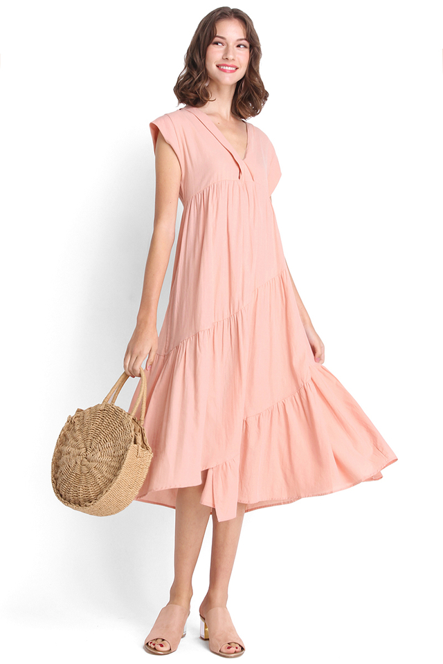 Country Maiden Maxi Dress In Pink