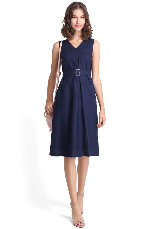 Oscar Dress In Navy Blue