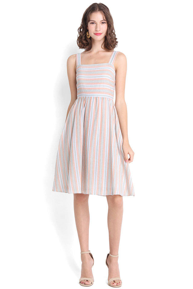 Paddle Pop Dress In Candy Stripes