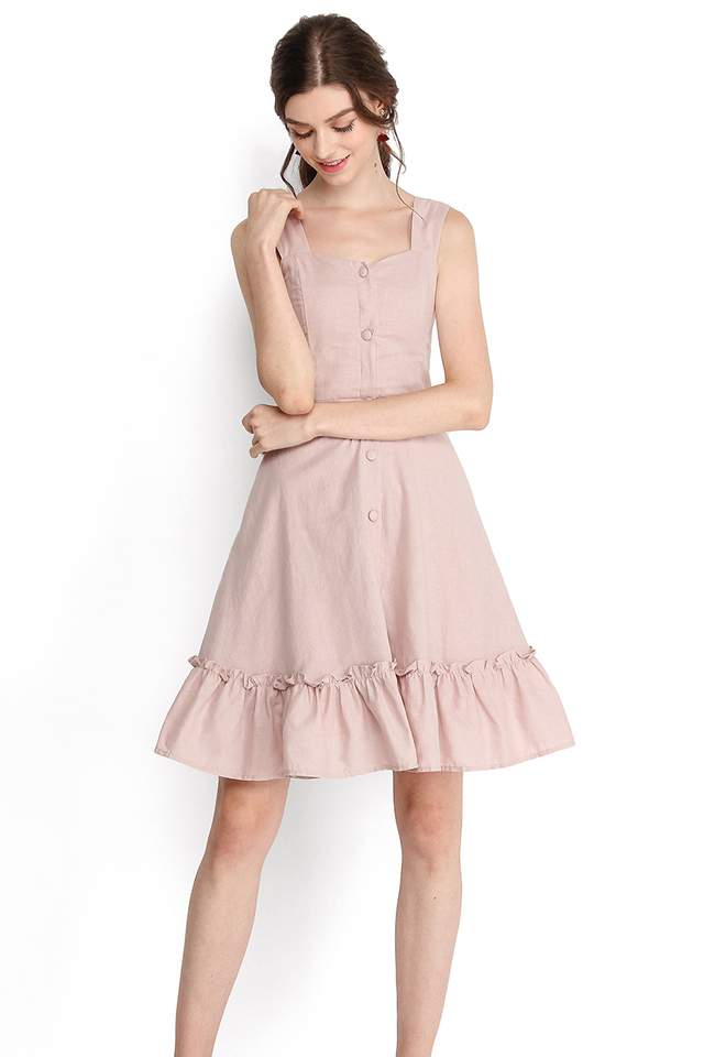 Holiday Romance Dress In Dusty Pink