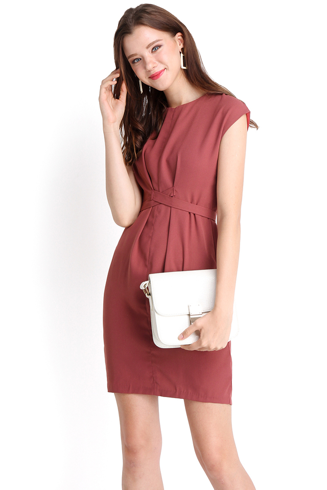 Budding Brilliance Dress In Rose Pink