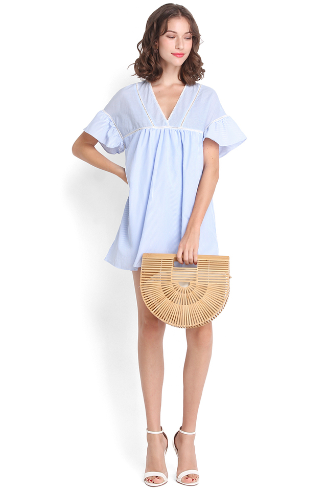 Ready For Summer Dress In Blue Stripes
