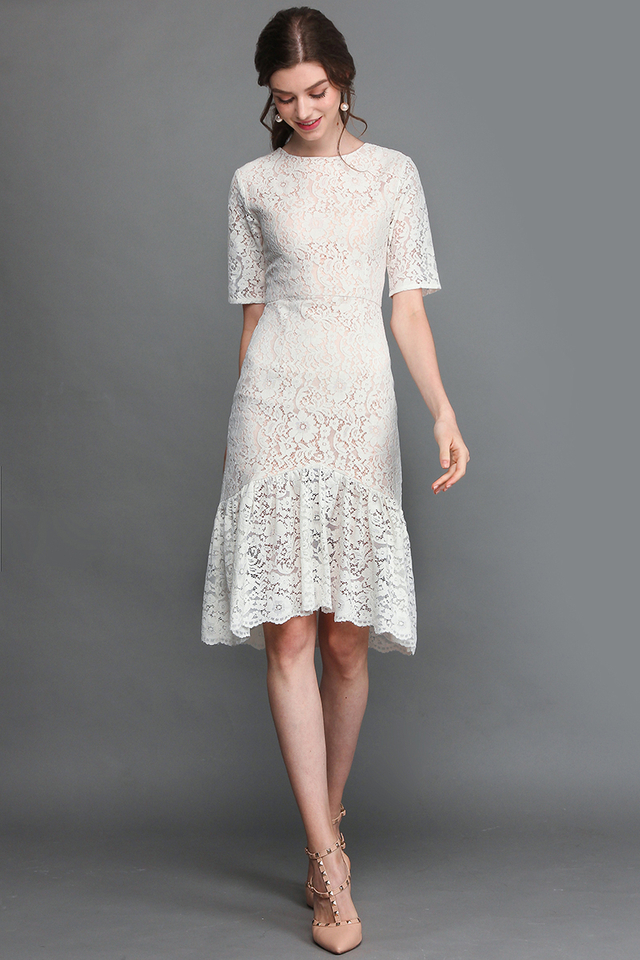 St Helens Dress In Delicate White
