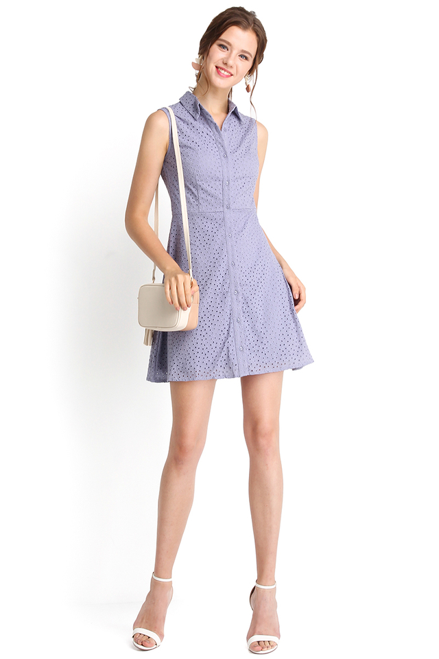 Playing Cupid Dress In Periwinkle