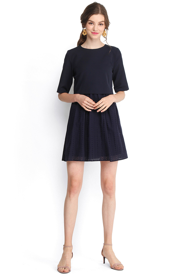 Toast And S'mores Dress In Midnight Blue