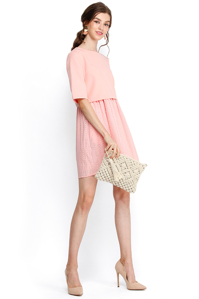 Toast And S'mores Dress In Pea Pink
