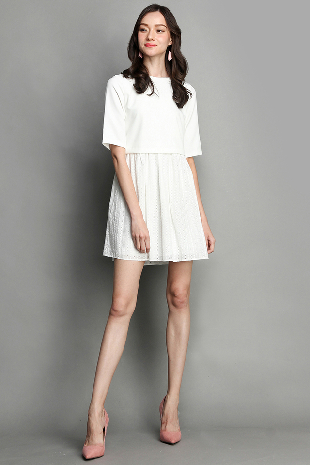 Toast And S'mores Dress In Pristine White