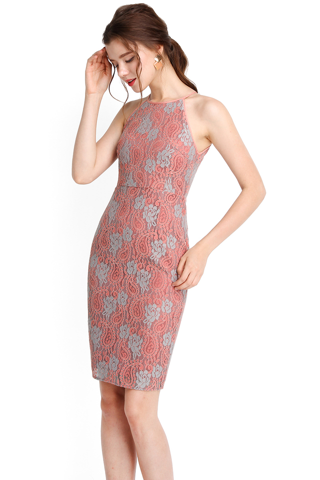 Your Time To Shine Dress In Rose Lace