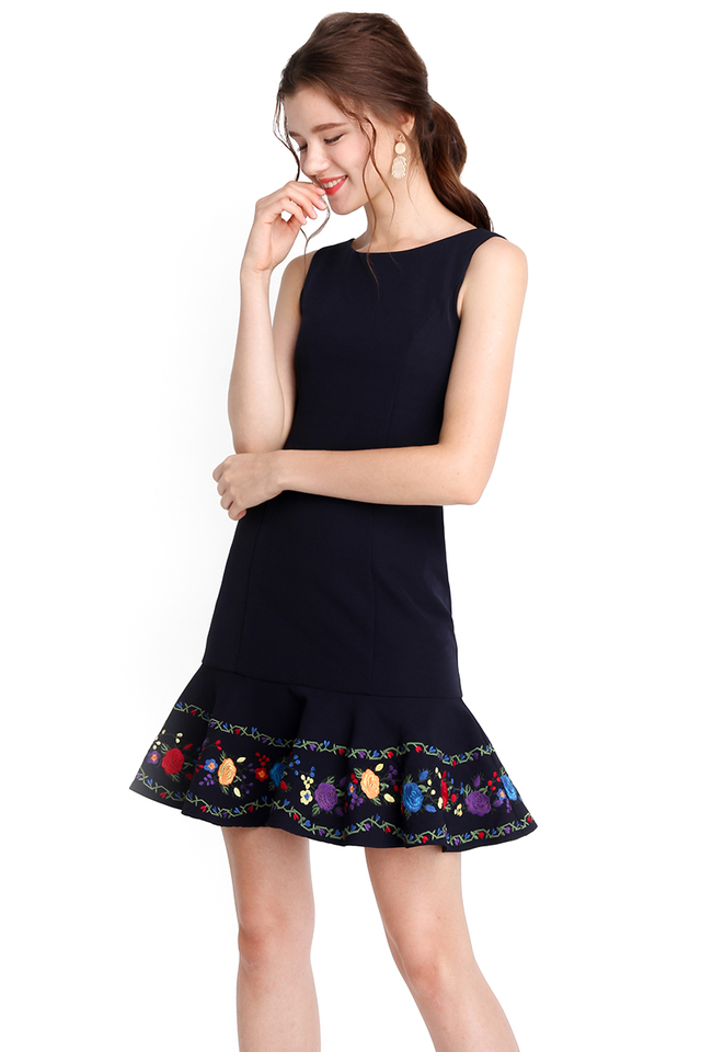 Fancy For You Dress In Midnight Blue