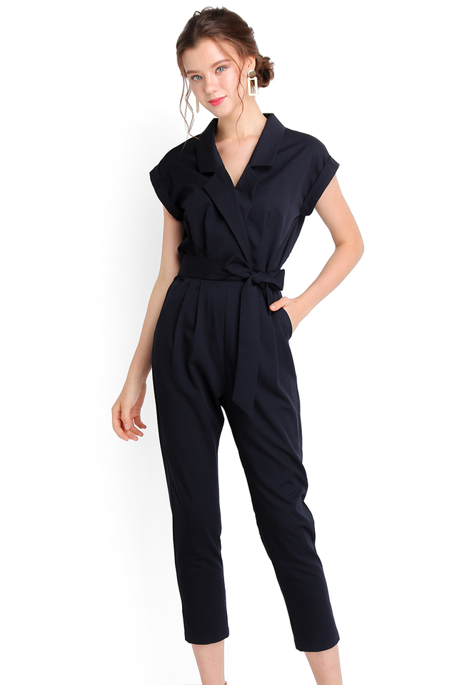[BO] French Quarter Romper In Midnight Blue