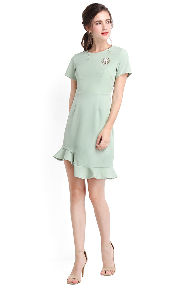 Cherished Moments Dress In Jade