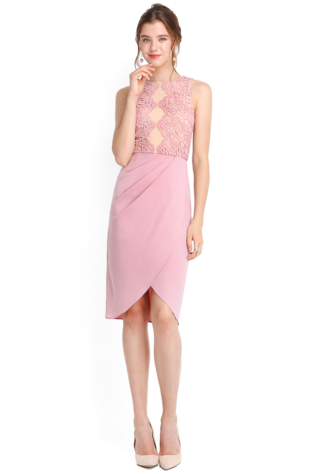 Cleopatra Dress In Dusty Pink