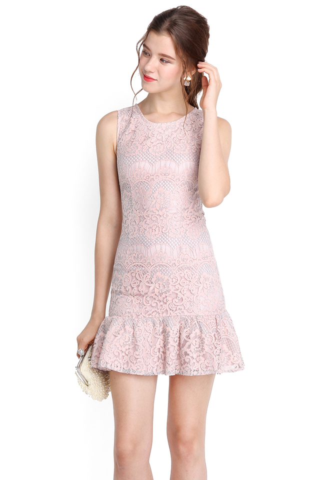 City Of Romance Dress In Dusty Pink