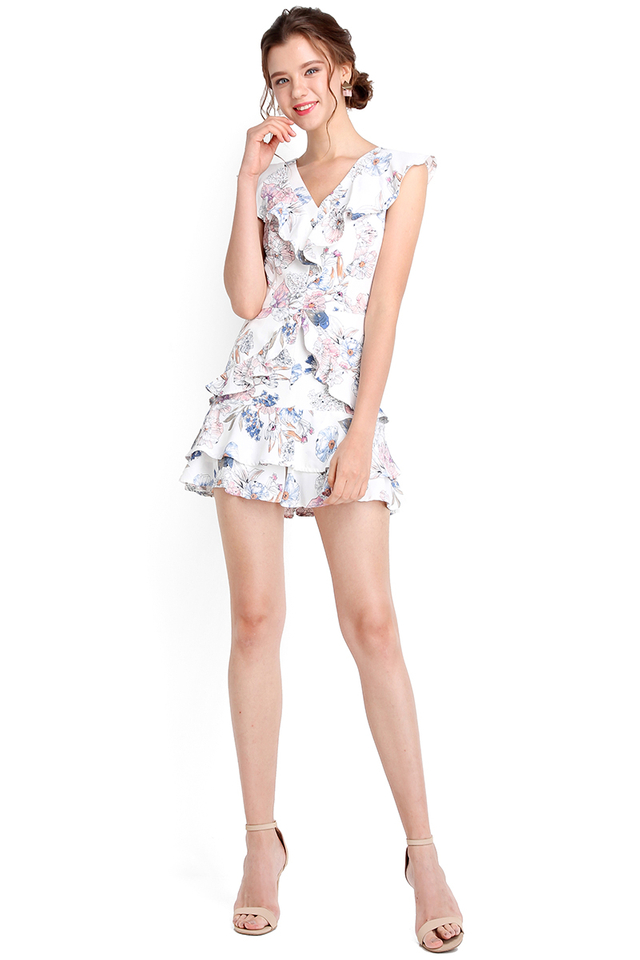 [BO] Head Over Heels Romper In White Florals