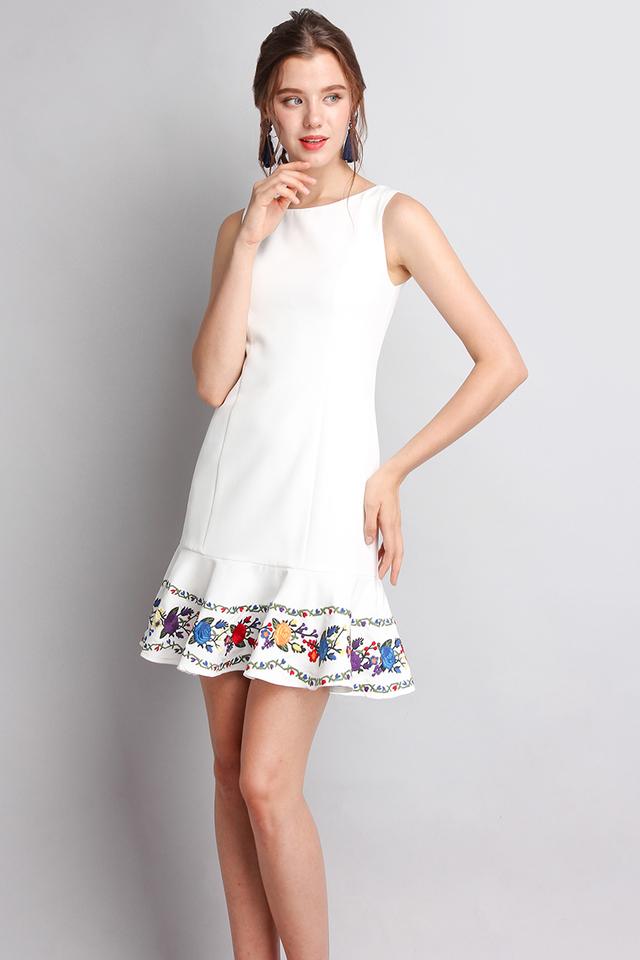 Fancy For You Dress In Classic White