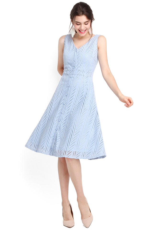 Eat Pray Love Dress In Periwinkle