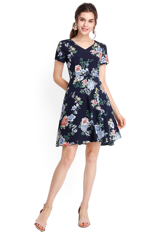 Exuberant By Nature Dress In Midnight Blue