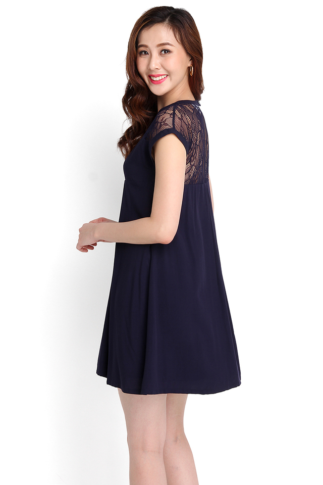 Paradise Found Dress In Midnight Blue