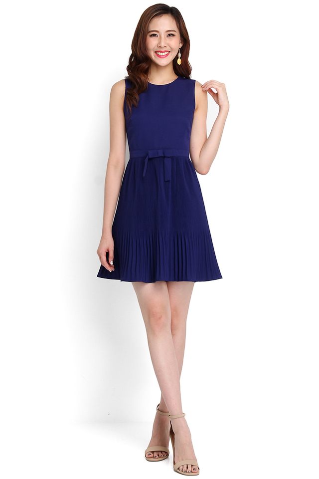 Spring Splendour Dress In Indigo Blue