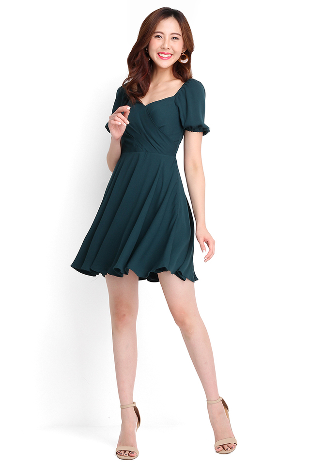 Betty Boop Dress In Forest Green