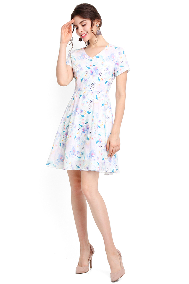 Exuberant By Nature Dress In Lilac Blooms
