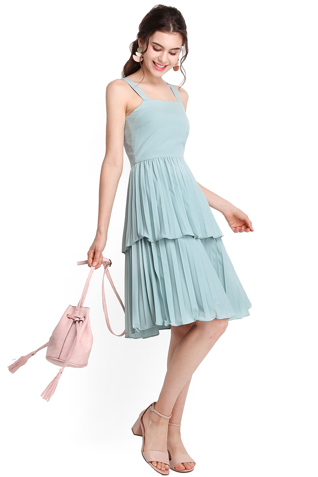 Think Happy Thoughts Dress In Jade