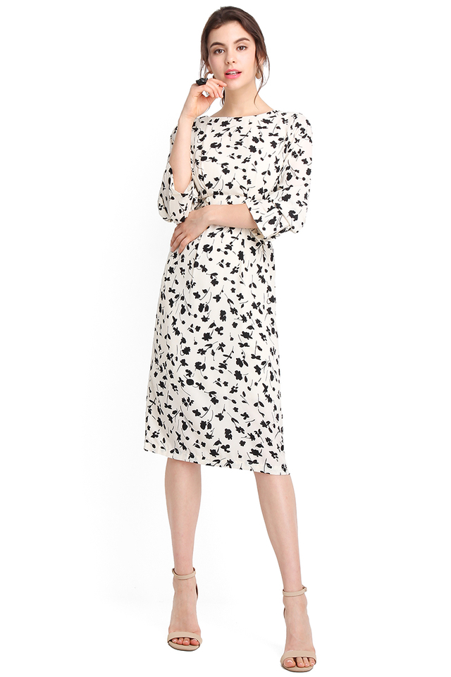 Tale Of Two Cities Dress In Cream Prints